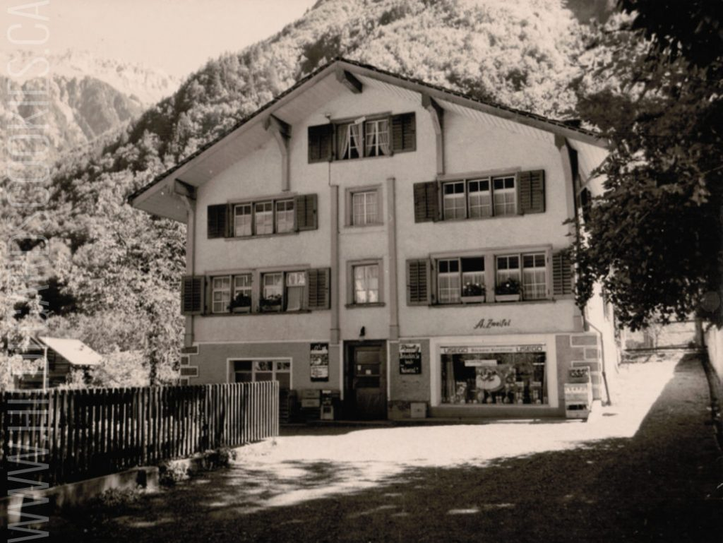 A. Zweifel Bakery in Linthal, Switzerland, in the 1960s