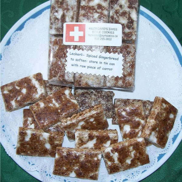 Homemade, Swiss-style Basler Läckerli (spiced gingerbread)